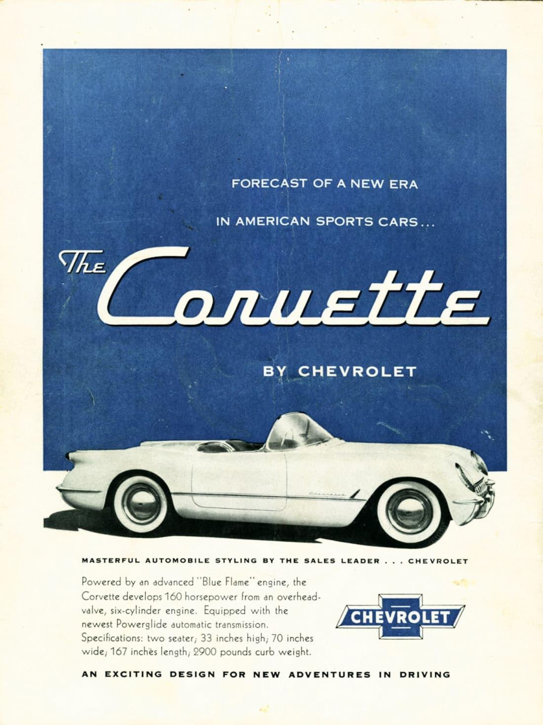 1954 Corvette Ad