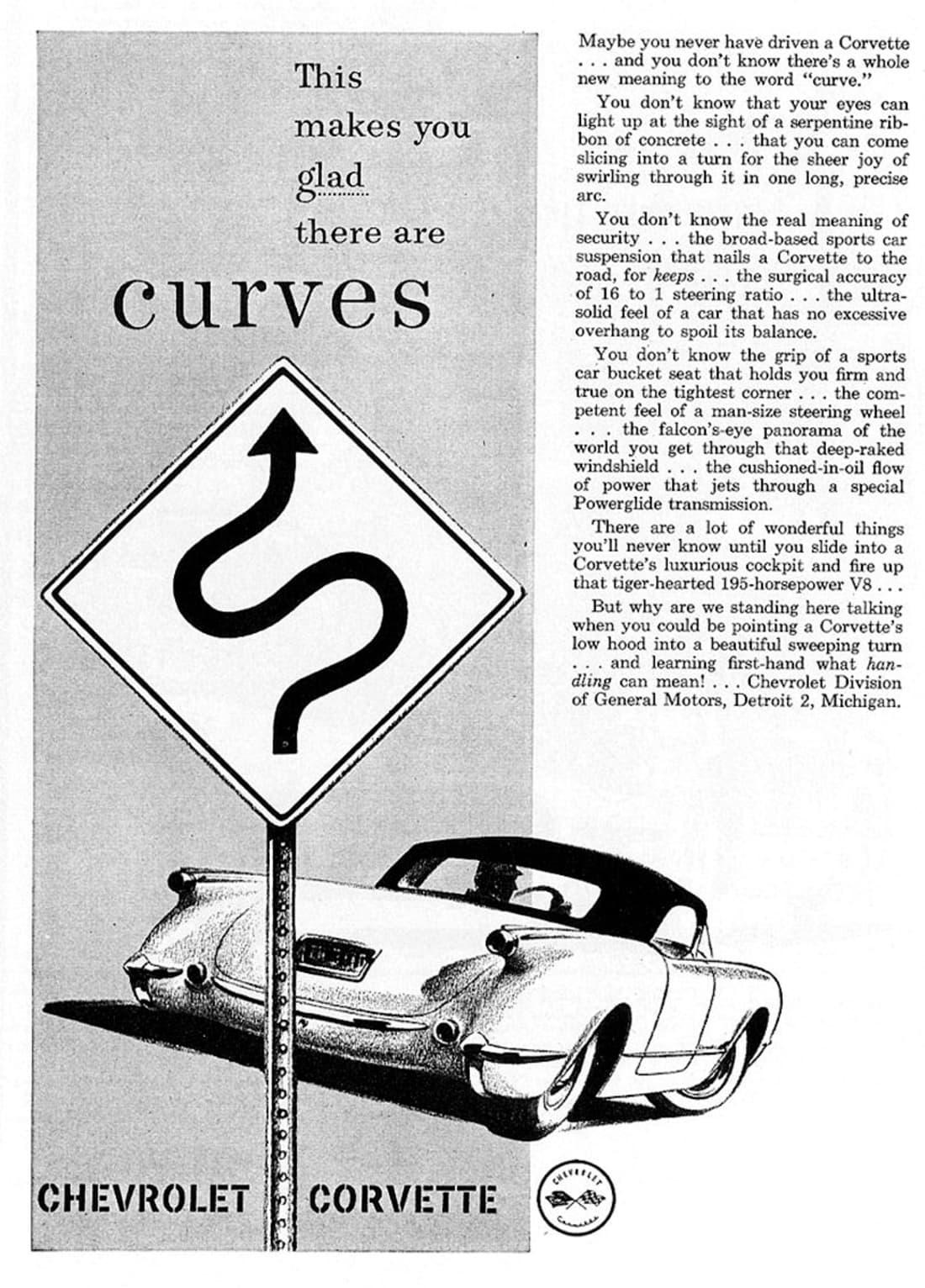1955 Corvette Ad