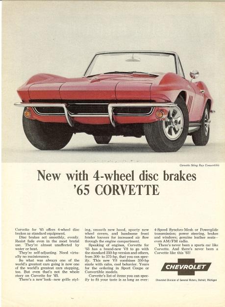 1965 Corvette Ad