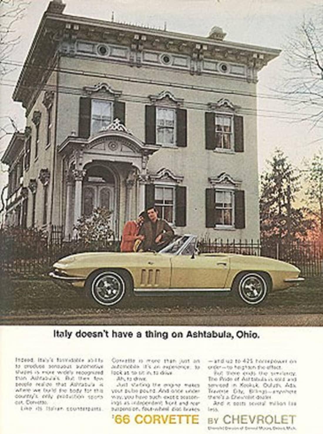 1966 Corvette Ad