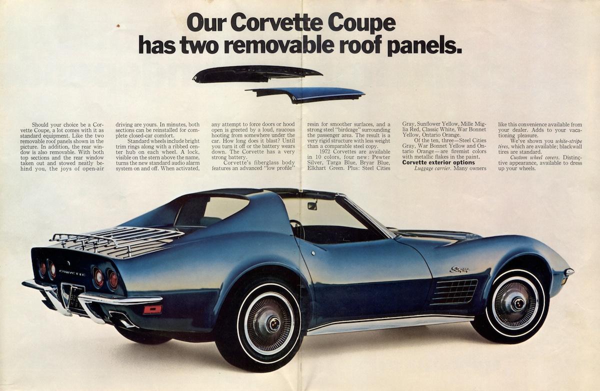 1972 Corvette Ad