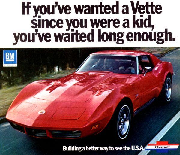 1973 Corvette Ad