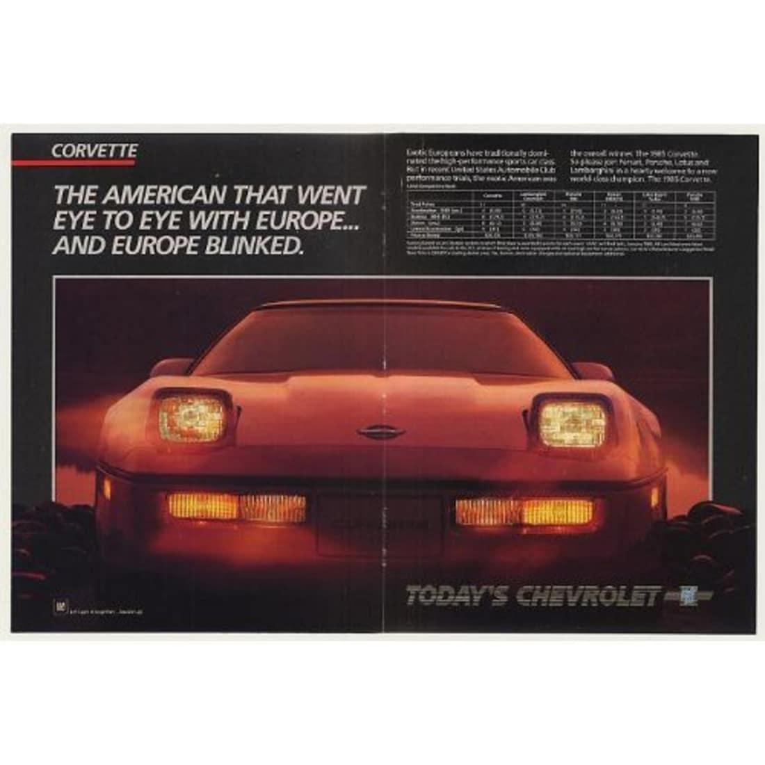 1985 Corvette Ad