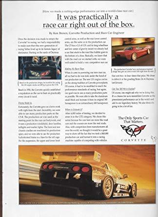 1999 Corvette Ad